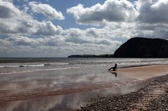 Sidmouth in Devon by sunlight Royalty Free Stock Images