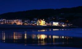 Sidmouth in Devon by sunlight. Seascape on the Devon coastline stock images