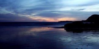 Sidmouth em Devon pela luz solar Foto de Stock Royalty Free