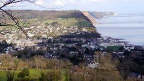 Sidmouth En populär feriesemesterort i Devon South West England royaltyfria bilder