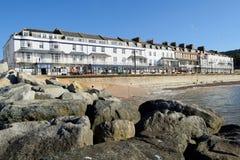 Sidmouth Esplanade. On the Jurassic Coast World Heritage Site royalty free stock photo