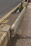 Sidmouth flood gate. Anti flood defence by sea front at Sidmouth, Devon, England, United Kingdom. Can be opened or removed when there is no threat of flooding Royalty Free Stock Images