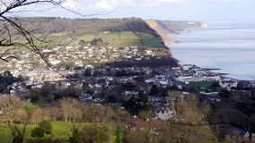Sidmouth. A popular holiday resort in Devon South West England. Sidmouth. A holiday resort very popular with tourists in Devon South West England royalty free stock images