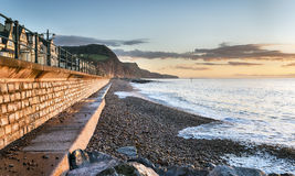 Sidmouth Seafront in Devon Stock Photography