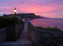 Sidmouth sunset Stock Photography
