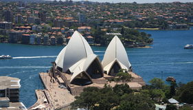 Sidney, Australia. Sydney  is the state capital of New South Wales and the most populous city in Australia and Oceania. The picture shows the skyline of the city Royalty Free Stock Image