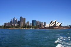 Sidney, Australia. Sydney is the state capital of New South Wales and the most populous city in Australia and Oceania. The picture shows the skyline of the city royalty free stock photography