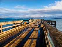 Sidney BC pier after the windstorm,. Vancouver Island, British Columbia, Canada Royalty Free Stock Images
