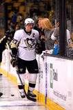 Sidney Crosby interviewed on Versus Network. Royalty Free Stock Photo
