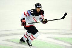 Sidney Crosby, kapitein van van het nationale het ijshockeyteam van Canada stock foto's
