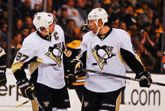 Sidney Crosby and Pascal Dupuis Pitts. Penguins. Pittsburgh Penguins Sidney Crosby #87 and Pascal Dupuis #9 Royalty Free Stock Photography