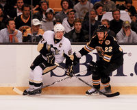Sidney Crosby and Shawn Thornton. Stock Photos