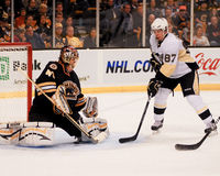 Sidney Crosby and Tuukka Rask Royalty Free Stock Images
