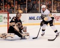 Sidney Crosby and Tuukka Rask Royalty Free Stock Images