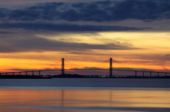 Sidney Lanier桥梁 库存图片