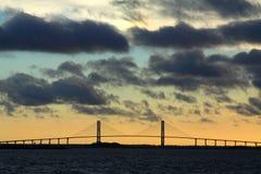 Sidney Lanier桥梁 免版税图库摄影