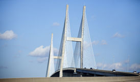 Sidney Lanier Bridge in Brunswick Royalty Free Stock Images