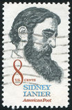 Sidney Lanier. UNITED STATES - CIRCA 1971: stamp printed by United states, shows Sidney Lanier, circa 1971 Stock Photos
