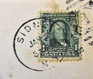 Sidney New York Postmark lizenzfreies stockbild