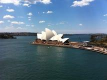 Sidney opera cruise ship harbor Royalty Free Stock Images