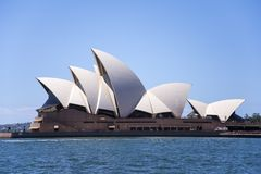 Sidney opera house. View at Sidney opera house in Sydney, Australia. It was Designed by Danish architect Joørn Utzon and was opened at October 20, 1973 Stock Photography