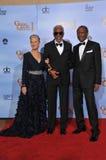 Sidney Poitier, Morgan Freeman, Helen Mirren lizenzfreies stockfoto
