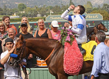 Sidney's Candy Wins The Santa Anita Derby stock image