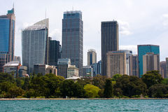 Sidney seen from the sea. Royalty Free Stock Image