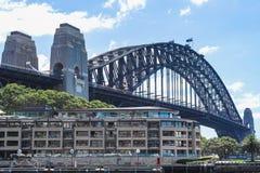 Sidney sikt av den sidney hamnbron arkivfoto