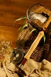 Sido pesca, pescando con caña Imagen de archivo libre de regalías