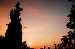 Sidoarjo dopo il tramonto Fotografie Stock