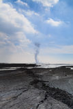 Sidoarjo mud flow blowout in Indonesia Stock Photo