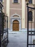 Sidoenterance av den Ortodox domkyrkan Arkivbilder
