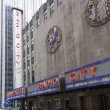 Sidofasad av korridoren för radiostadsmusik i manhattan New York City Royaltyfri Fotografi