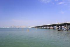 Sidoframsida av xinglinbron Arkivbild