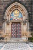 Sidoingång av den Vysehrad domkyrkan Royaltyfria Bilder
