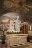 Sidokupol av set Emidios domkyrka i Ascoli Piceno Fotografering för Bildbyråer