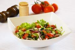 Sidomaträtt med grönsaken Arkivfoton