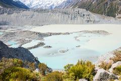 Sidomorän vid glaciären Royaltyfria Bilder