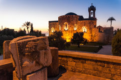 Sidon的教会 免版税库存图片