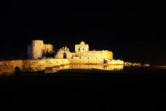 Sidon Overzees Kasteel Stock Foto's