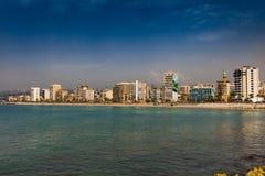 Sidon Saida skyline cityscape waterfront South Lebanon stock photography