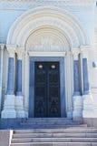 Sidoportal av St Nicholas Naval Cathedral i Kronstadt, St Petersburg, Ryssland Fotografering för Bildbyråer