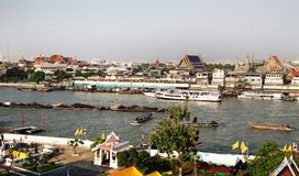 2 sidor av Bangkok Arkivfoto