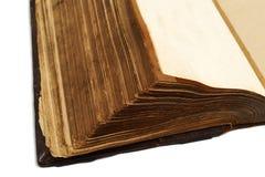 Sidor av en forntida bok Arkivfoto