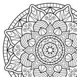 Sidor för färgläggningbok mandala Royaltyfri Fotografi