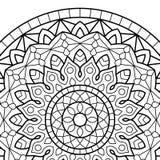 Sidor för färgläggningbok mandala Fotografering för Bildbyråer