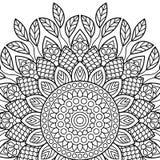 Sidor för färgläggningbok mandala Arkivbilder