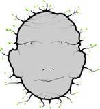 Sidor för mänskligt huvud Arkivfoto