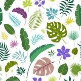 Sidor för sömlös modell för vektor tropiska stock illustrationer